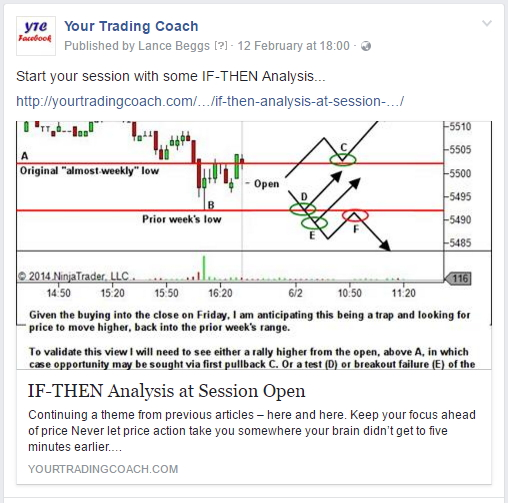 Start your session with IF-THEN analysis